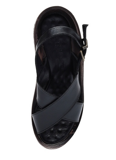%100 Deri Sandalet-Camore